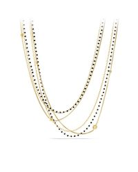 David Yurman | Starburst Chain Necklace With Black Spinel Beads In Gold | Lyst