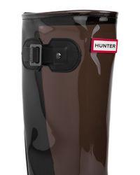 HUNTER | Black Original Clear Leg Rain Boots - Slate | Lyst