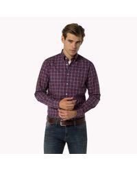 Tommy Hilfiger   Purple Woven Cotton Shirt for Men   Lyst