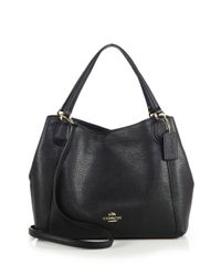 COACH | Black Edie Pebbled Leather Shoulder Bag | Lyst