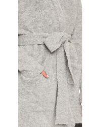 Tibi | Gray Cozy Alpaca Cardigan - Ivory | Lyst