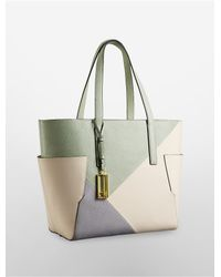 Calvin Klein - Green White Label Arslyne Patchwork City Capacity Tote - Lyst