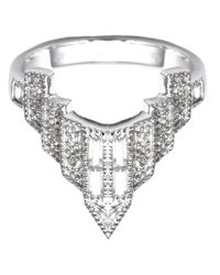 V Jewellery | Metallic Deco Chrysler Ring | Lyst