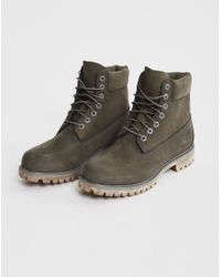 "Timberland | Gray Icon 6"" Premium Boot Grey for Men 