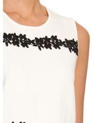 Giambattista Valli | White Embroidered Sleeveless Knit Top | Lyst