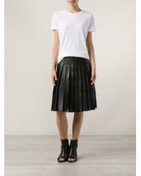 Adam Lippes Black Pleated Skirt