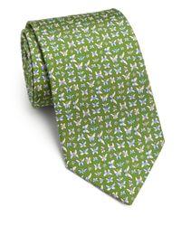Ferragamo - Green Butterfly Silk Tie for Men - Lyst