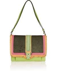 Paula Cademartori Green Caroline Calf-hair and Leather Shoulder Bag