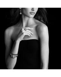 David Yurman | Metallic Cable Coil Drop Earrings with Diamonds | Lyst