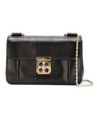Chloé - Black Elsie Sheepskin Shoulder Bag - Lyst