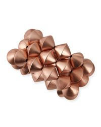 Nest - Pink Rose Gold-plated Stretch Bead Bracelets - Lyst