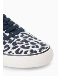 Mango Blue Leopard Print Sneakers