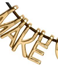 H&M | Black Necklace With Letter Pendants | Lyst