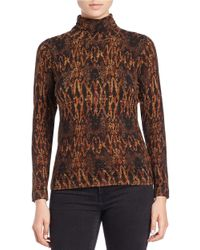 Lord & Taylor Multicolor Snake Patterned Sweater