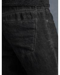 John Varvatos Blue Authentic Fit Linen Jean for men