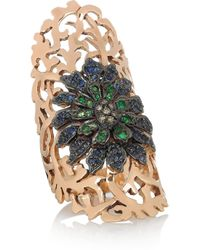 Ileana Makri | Pink Shield 18-Karat Rose Gold Multi-Stone Ring | Lyst
