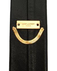Saint Laurent - Black Skinny Leather Tie for Men - Lyst