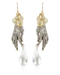 Alexis Bittar - Metallic Jardin Mystere Crystal Hand Earrings - Lyst