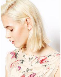 ASOS White Faux Pearl Cone Stud Earrings