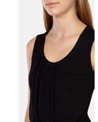 Karen Millen Black Draped Silk Front Vest Top