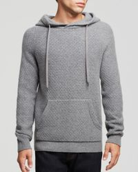 Marc By Marc Jacobs Gray Honeycomb Cashmere Hoodie for men