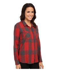 Splendid - Red Wildwood Plaid Shirting - Lyst