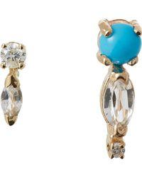 Loren Stewart - Metallic Gemstone Pin & Stud Set Size Os - Lyst