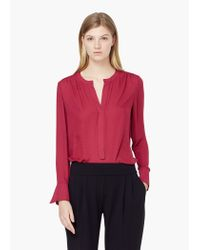 Mango | Red Flowy Blouse | Lyst
