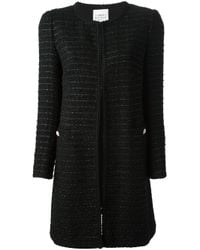 Edward Achour Paris - Black Bouclé Knit Coat - Lyst