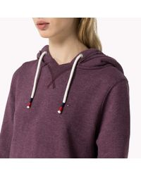 Tommy Hilfiger | Purple Cotton Blend Hoody | Lyst