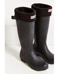 HUNTER Black Tall Boot Sock