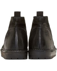 Marsèll Black Distressed Suede Desert Boots for men
