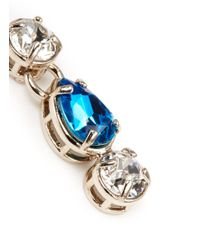 Valentino | Blue Bi-colour Strass Earrings | Lyst