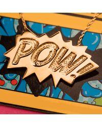 Edge Only Metallic Pow Pendant Large Long In Gold