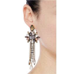 Erickson Beamon - Multicolor 'sound Garden' Multi Crystal Chain Drop Earrings - Lyst