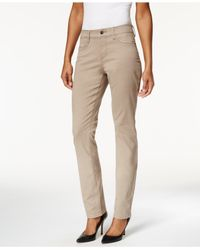 NYDJ | Brown Samantha Slim-leg Pants | Lyst