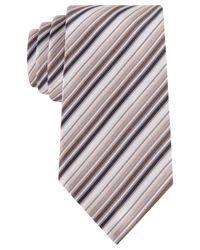 Geoffrey Beene | Brown Stripe Done Right Tie for Men | Lyst