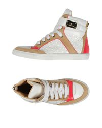 Elisabetta Franchi - White High-tops & Trainers - Lyst