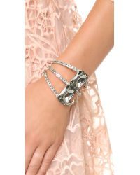 Oscar de la Renta Large Octagon Stone Bracelet - Black Diamond/silver
