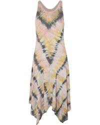 Raquel Allegra Pink Tie-dyed Cotton-blend Jersey Dress