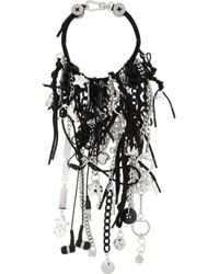 Marc By Marc Jacobs | Black Number 3 Silver-Plated, Resin And Cubic Zirconia Charm Necklace | Lyst