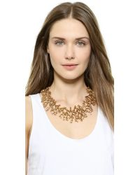 Oscar de la Renta Metallic Coral Branch Necklace - Russian Gold
