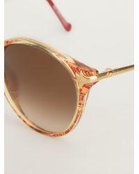 Christian Lacroix Metallic Round Sunglasses