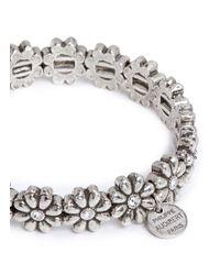Philippe Audibert | Metallic 'carline' Crystal Flower Elastic Bracelet | Lyst