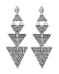 House of Harlow 1960 | Metallic Pave Triangle Earrings | Lyst