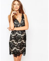 Missguided Black Lace Bodycon Dress With Low Back