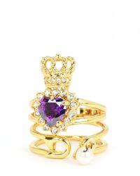 Juicy Couture | Metallic Royal Punk Ring Set | Lyst