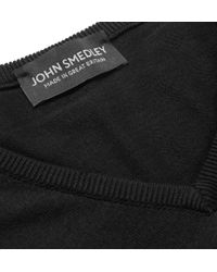 John Smedley - Black Brock Knitted Sea Island Cotton Sweater for Men - Lyst
