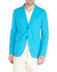 Jil Sander - Blue Turquoise Two-Button Blazer for Men - Lyst