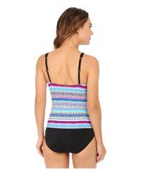 Jantzen - Multicolor Painted Stripe High Neck One-piece - Lyst